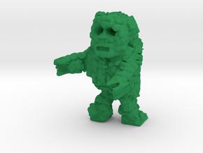 Rock Monster (28mm Scale Miniature) in Green Processed Versatile Plastic