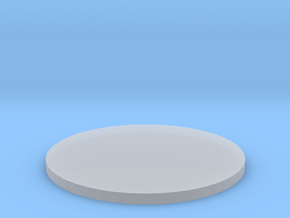50mm Circular Miniature Base Plate in Smooth Fine Detail Plastic