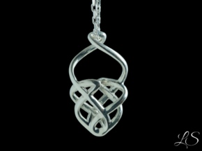 Basket Pendant in Polished Silver
