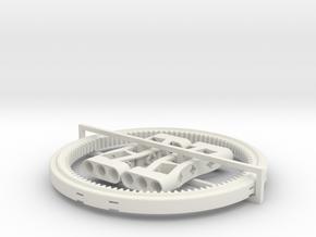 Turntable Support  13 studs diameter in White Natural Versatile Plastic