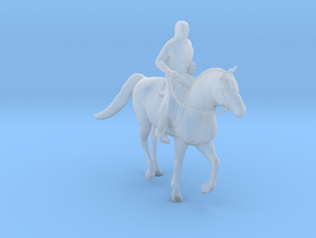 Knight Templar Horseback in Smooth Fine Detail Plastic: 1:64 - S
