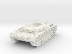 panzer IV hull scale 1/100 in White Natural Versatile Plastic