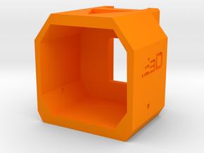 Nerf Receiver Picatinny Mount Adapter (Short) in Orange Processed Versatile Plastic