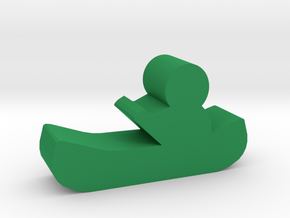 Game Piece, Canoe in Green Processed Versatile Plastic