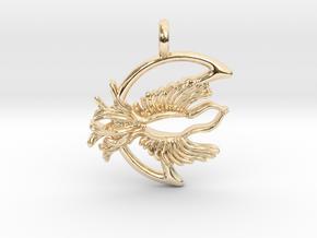 Fly Free Nightbird Pendant. in 14K Yellow Gold