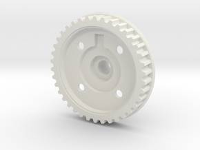Gizmo Genesis Diff Half - Pulley Side in White Natural Versatile Plastic