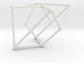 Cubic graph on 12 vertices with girth = 5, no. 1 in White Natural Versatile Plastic: Large