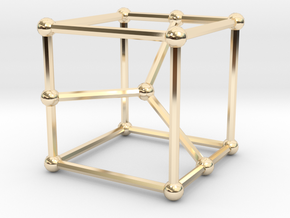 Cubic graph on 12 vertices with girth = 5, no. 2 in 14k Gold Plated Brass: Small