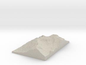 Model of Cerro de la Silla in Natural Sandstone