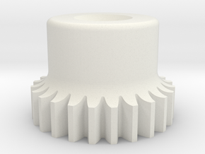 "Gear, 48 Pitch, .500"" Pitch Diameter in White Natural Versatile Plastic"