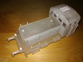 1/87th (H0) scale M-28 diesel engine in Smooth Fine Detail Plastic