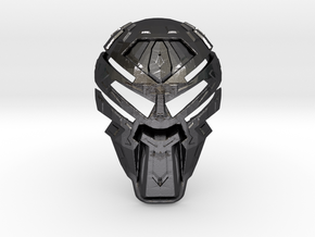 Mask Of Chaos in Polished and Bronzed Black Steel