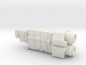 UNSC Halcyon Cruiser in White Natural Versatile Plastic