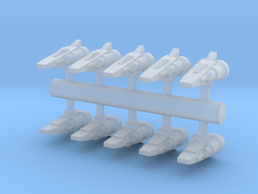 10 Human Alliance Fighters in Smooth Fine Detail Plastic
