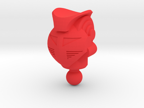 Galactic Defender King Atlas Head in Red Processed Versatile Plastic