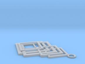 Geometrical pendant no.8 in Smooth Fine Detail Plastic: Medium