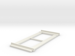 1:12 Scale Interior Window Frame in White Natural Versatile Plastic