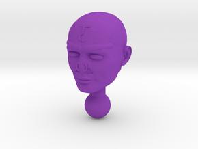 Time Traveler Acroyear Unmasked Head in Purple Processed Versatile Plastic