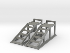 RC Garage 4WD Truck Car Ramps 1:10 Scale in Gray PA12
