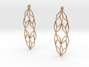 Lsys Earrings in Polished Bronze