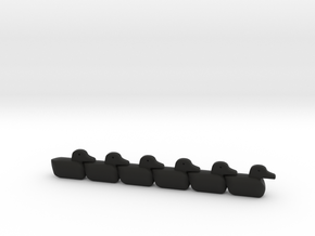 Get Your Ducks In A Row in Black Natural Versatile Plastic