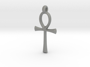 Ankh with hook in Gray PA12