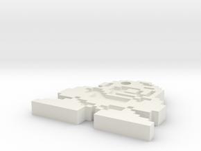 Megaman X keychain in White Natural Versatile Plastic