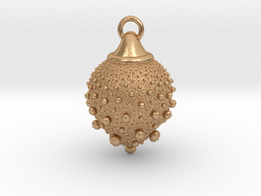 Fractal pendant - Strawberry fields in Natural Bronze