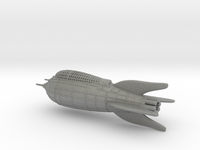 Flash Gordon Rocket Detailed in Gray Professional Plastic