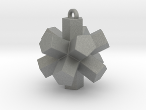 Dodecahedron Pendant in Gray PA12