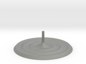 Ripples Incense Stick Holder in Gray Professional Plastic