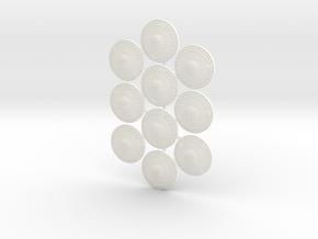 PHALANX SHIELD 1x10  in White Processed Versatile Plastic