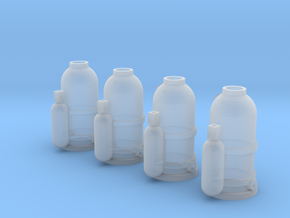 1:50 Fire suppression bottles in Smooth Fine Detail Plastic