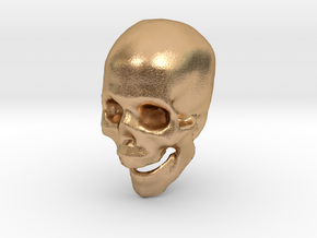 skull hollowed in Natural Bronze
