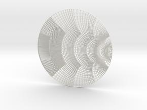 Smith Chart pendant in White Natural Versatile Plastic