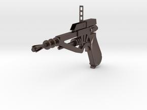 TOMORROW PEOPLE STUN GUN WITH STRAIGHT HANDLE in Polished Bronzed-Silver Steel