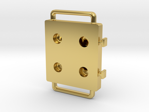 Blister Device End Cap (4 Chamber Version) in Polished Brass