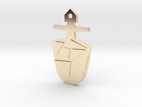 The Eighth Doctor's TARDIS Key in 14k Gold Plated Brass: Medium