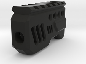 Galactic Muzzle Compensator (14mm Self-Cutting) in Black Natural Versatile Plastic