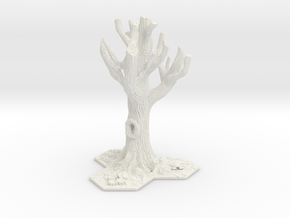 Tabletop Tree - Base in White Natural Versatile Plastic