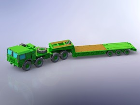 MAN M1014 with M870A! Semitrailer 1/200 in Smooth Fine Detail Plastic