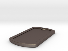 delux_dogtag_blank in Polished Bronzed-Silver Steel