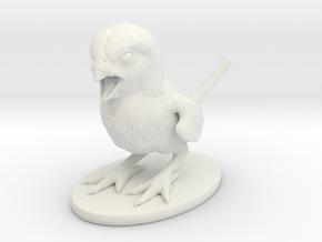 Dino Finch in White Natural Versatile Plastic