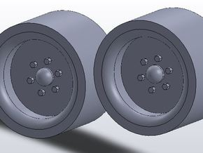 1:64 scale 12-16.5 Skid Steer Wheels in White Strong & Flexible
