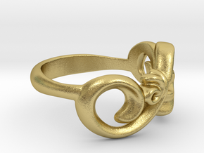 Style Ring. in Natural Brass: 7 / 54