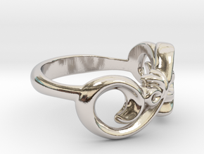 Style Ring. in Platinum: 7 / 54