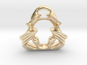 The Ghost of the Samurai Warrior. in 14K Yellow Gold