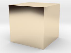 3D printed Sample Model Cube 1.95cm in 14K Yellow Gold