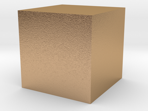 3D printed Sample Model Cube 0.5cm in Natural Bronze
