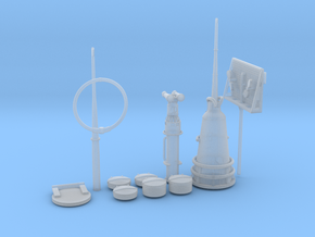 1/32 U-Boot U-441 Conning Tower Detail KIT in Smooth Fine Detail Plastic